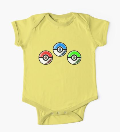 Pokemon - Starter Pokeballs One Piece - Short Sleeve