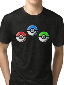 Pokemon - Starter Pokeballs Tri-blend T-Shirt