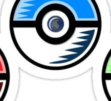 Pokemon - Starter Pokeballs Sticker