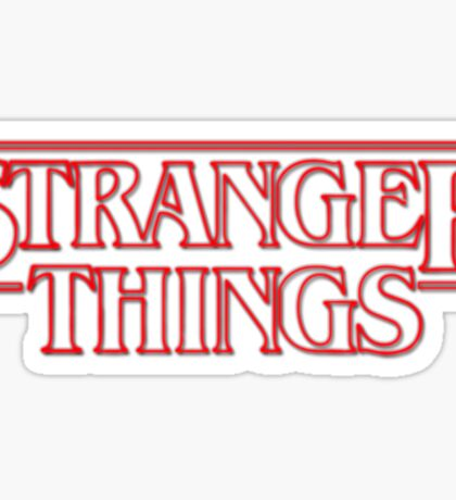 Stranger things tv series Sticker