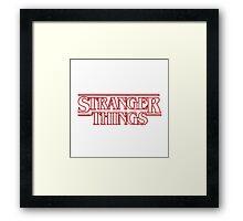 Stranger things tv series Framed Print