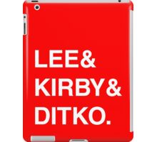 Stan Lee & Jack Kirby & Steve Ditko. iPad Case/Skin