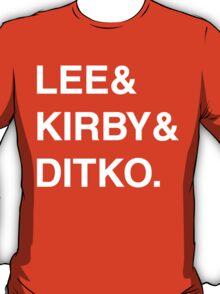 Stan Lee & Jack Kirby & Steve Ditko. T-Shirt