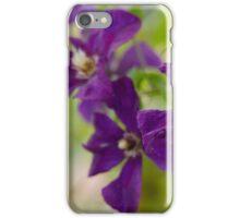 Purple clematis flower iPhone Case/Skin