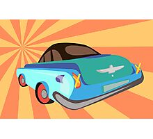 Disco retro car  Photographic Print