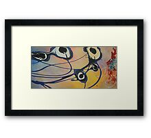 Abstract Flowers - Beyond the blue flowers, by Adam Asar c. 2016 12x24 Framed Print