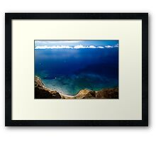 Wonderful Sea Coast - Nature Photography Framed Print