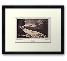 Venus sleeping Framed Print