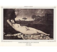 Venus sleeping Photographic Print