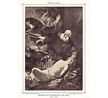 The sarcifice of Abracham Photographic Print