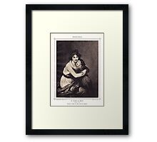 Portrait of Mme, Le Brun and her daughter Framed Print