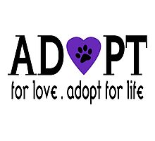 Adopt For Love Photographic Print