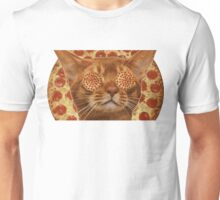 Pizza and Cat Lovers Two In One Pizza Pie  Unisex T-Shirt