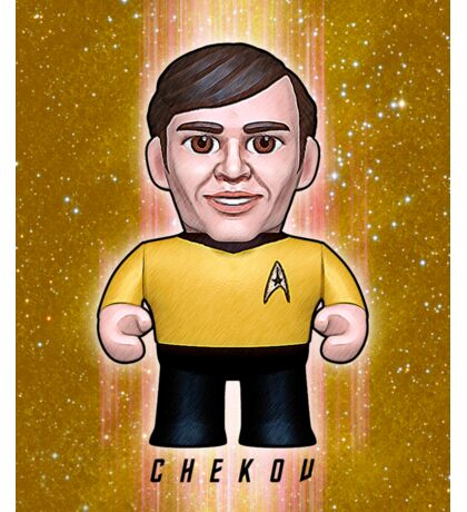 Chekov - Star Trek Caricature Sticker
