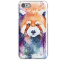 Red Panda Splash Watercolor iPhone Case/Skin