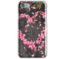 Heart of rose petal flowers iPhone Case/Skin