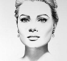 Grace Kelly Minimal Portrait by IleanaHunterArt