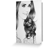 Duchess Catherine Minimal Portrait Greeting Card