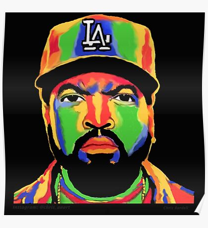 ICE CUBE COLOUR PRINT Poster
