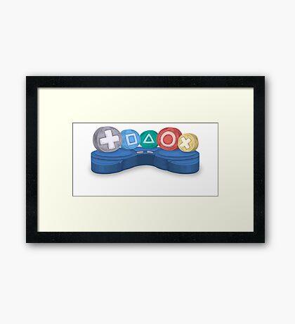 console gamer Framed Print