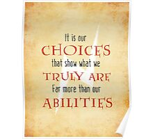 Wizardry - Choices & Ability Poster