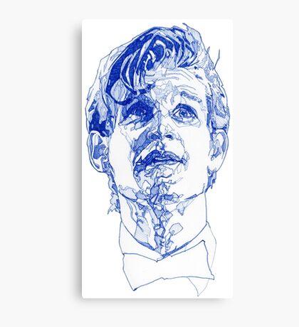 Eleven In Tardis Blue  Canvas Print
