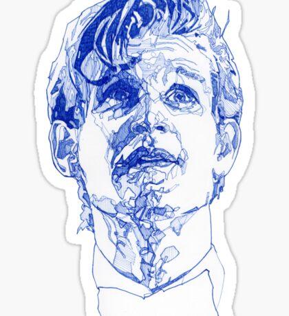 Eleven In Tardis Blue  Sticker