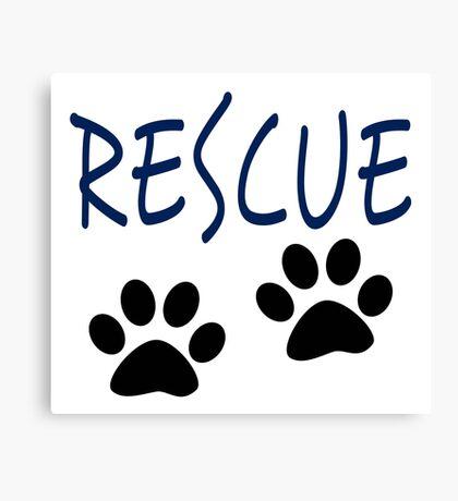 Rescue (blue) Canvas Print