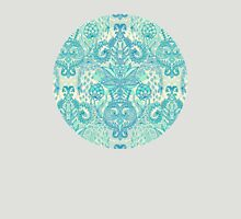 Botanical Geometry - nature pattern in blue, mint green & cream T-Shirt