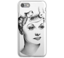 Lucille Ball Minimal Portrait iPhone Case/Skin