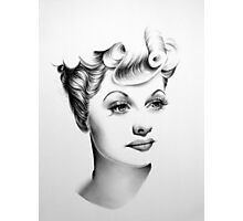 Lucille Ball Minimal Portrait Photographic Print