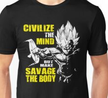 Make Savage The Body (Vegeta Hardcore Squat) Unisex T-Shirt