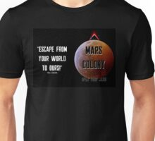 Mars Colony - Total Recallesk Unisex T-Shirt