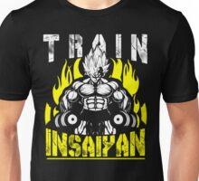 TRAIN INSAIYAN (Vegeta Lifting Dumbbells) Unisex T-Shirt