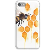 Honey Bee Watercolor iPhone Case/Skin