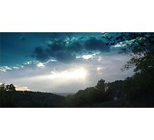 Sunset over Shannandoah Valley Photographic Print