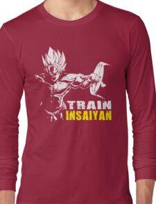 TRAIN INSAIYAN (Goku Hardcore Squat) Long Sleeve T-Shirt