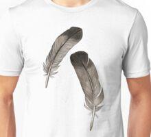 Black feathers Unisex T-Shirt