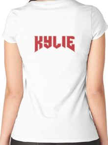 KYLIE Jenner Logo Women's Fitted Scoop T-Shirt