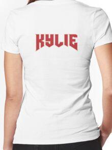 KYLIE Jenner Logo Women's Fitted V-Neck T-Shirt