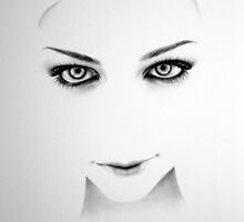Amy Lee Minimal Portrait by IleanaHunterArt