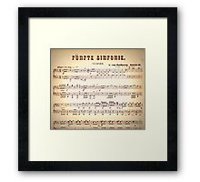 Beethoven Sinfonien Framed Print