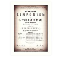 Beethoven Sinfonien Art Print