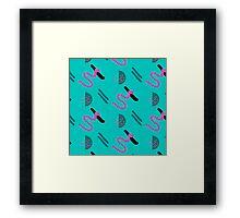 Abstract brush stroke Framed Print