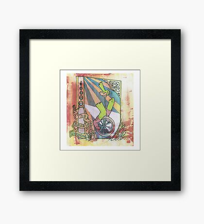 The Amazing Unicycling Limbs Framed Print