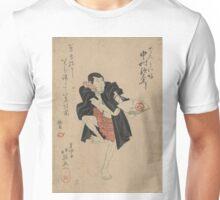 The actor Nakamura Utaemon in the role of Den Kaibo - Hokuei Shunbaisai - 1833 Unisex T-Shirt