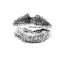 Kissing Lips. Pucker up! Give us a kiss! Lipstick Print. Photographic Print
