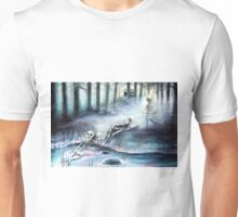 'Buried in the Woods' by artist Heather Calderon Unisex T-Shirt