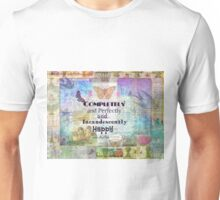 Jane Austen Mr Darcy Quote Completely And Perfectly And Incandescently Happy Unisex T-Shirt