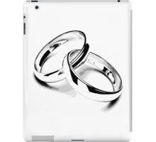 Wedding Bands. Just Married. Newlyweds. New Wife. New Bride. New Groom. New Husband. Wedding Rings. iPad Case/Skin